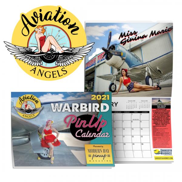 Aviation Angels Warbird Pin Up Calendar 2021